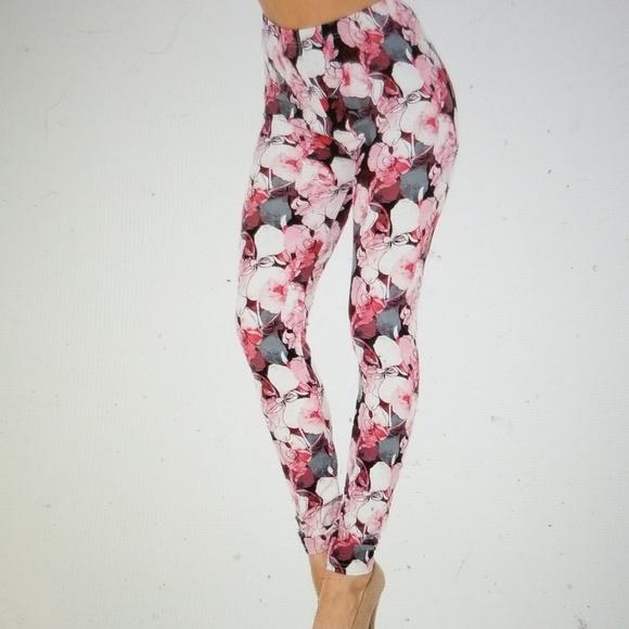 Raspberry Rose Leggings